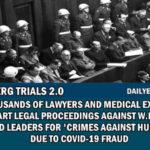 """COVIDowe oszustwo – prawnicy i eksperci medyczni wszczynają postępowanie sądowe przeciwko W.H.O i światowym liderom za """"Zbrodnie przeciwko ludzkości"""""""